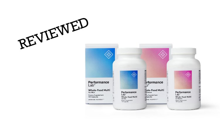 Performance Lab Whole-Food Multi packaging and bottles
